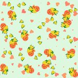 Lion and lioness with bouquet of dandelion - seamless cartoon animal and flower cute pattern Royalty Free Stock Photos