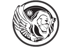 Lion Logo Foto de Stock Royalty Free