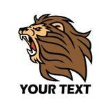 Lion Logo De Vectorillustratie van het gebruldier Stock Foto's