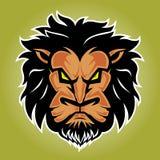 Lion Logo front Side View Vector Illustration stock illustration