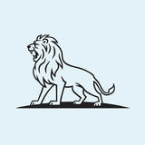 Lion Logo Mascot Illustration Template Stock Afbeelding