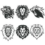Lion Logo Package. Premium Design Collection Set. Vector Illustration Royalty Free Stock Images