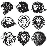 Lion Logo Set Collection De Vectorillustratie van het premieontwerp vector illustratie