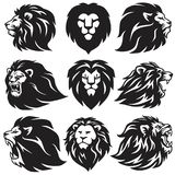 Lion Logo Set Collection Högvärdiga symboler för emblem för designvektorillustration vektor illustrationer