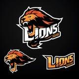 Lion Logo Sport stock illustrationer