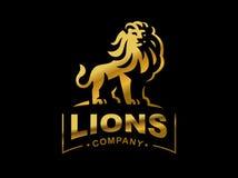 Lion logo - vector illustration, emblem design Royalty Free Stock Photos
