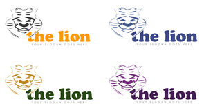 Lion logos Stock Image