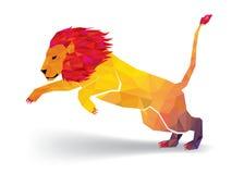 Lion Low-explodeert het veelhoek geometrische patroon - Vectorillustratie royalty-vrije illustratie