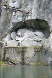 Lion of Lucerne in Lucerne Switzerland. Stock Images