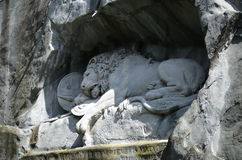 Lion of Lucerne in Lucerne Switzerland. Royalty Free Stock Photo