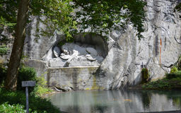 Lion of Lucerne in Lucerne Switzerland. Stock Photos