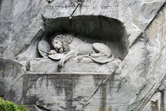 The Lion of Lucerne monument. Lucerne, Switzerland Stock Photos