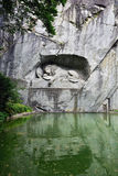 The Lion of Lucerne monument. Lucerne, Switzerland Royalty Free Stock Image