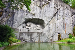 The Lion of Lucerne monument. Lucerne, Switzerland Royalty Free Stock Photo