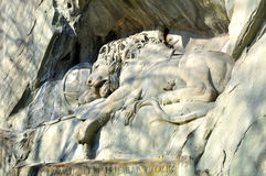 Lion of Lucerne. Stock Images