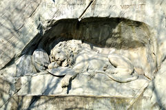 Lion of Lucerne. Royalty Free Stock Images