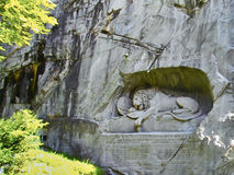 Lion of Lucerne sculpture in Lucerne, Switzerland. Royalty Free Stock Photo
