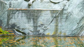 Lion of Lucerne Statue stock footage