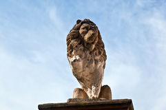 Lion made of Sandstone in Eltville. Germany Royalty Free Stock Image