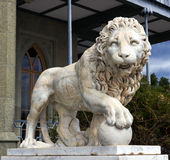 Lion marble sculpture Stock Photo