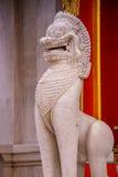Lion at The Marble Temple, Wat Benchamabopit Dusitvanaram in Bangkok Stock Photo