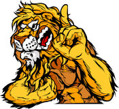 Lion Mascot Body Cartoon Stock Image