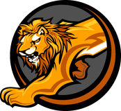 Lion Mascot Body Graphic. Graphic Mascot Image of a Lion Body Royalty Free Stock Photos