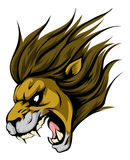 Lion mascot character. An illustration of a fierce lion animal character or sports mascot Stock Photo