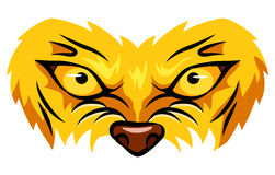 Lion mascot face. Royalty Free Stock Images