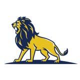 Lion Mascot Logo Roaring Vector-Malplaatje Royalty-vrije Stock Foto's