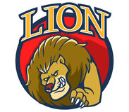 Lion Mascot2 Royalty Free Stock Photo