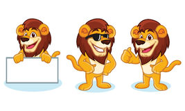 Lion Mascot Vector pose Royalty Free Stock Photography