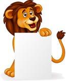 Lion med det blanka tecknet vektor illustrationer