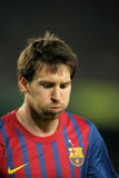 Lion Messi de FC Barcelone Photographie stock libre de droits