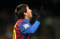 Lion Messi de FC Barcelone Photos stock