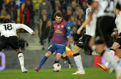 Lion Messi de FC Barcelone Images libres de droits