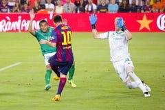 Lion Messi de FC Barcelone Images stock