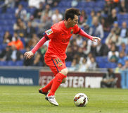 Lion Messi de FC Barcelone Photographie stock libre de droits