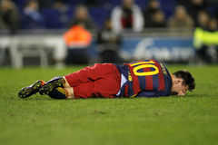 Lion Messi de FC Barcelone Photo libre de droits