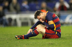 Lion Messi de FC Barcelone Photo stock