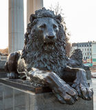 Lion metal Statue Royalty Free Stock Photography
