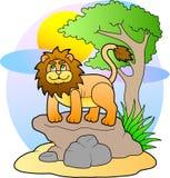 Lion mignon de jouet Photo libre de droits