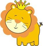 lion mignon de roi de chéri illustration stock