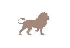 Lion minimal vector illustration Stock Photo