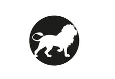 Lion minimal vector illustration Royalty Free Stock Photos