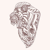 Lion modelé Photographie stock libre de droits