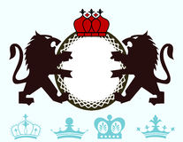 Lion Monogram crest Stock Photo