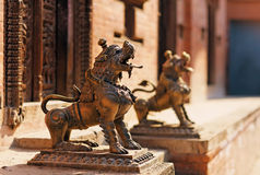 Lion monster statue Stock Image