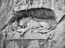 Lion Monument em Lucern, Suíça foto de stock