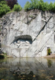 The Lion Monument or the Lion of Lucerne, in Lucerne, Switzerland. LUCERNE, SWITZERLAND - JUNE 12, 2013: The Lion Monument or the Lion of Lucerne, in Lucerne royalty free stock photography